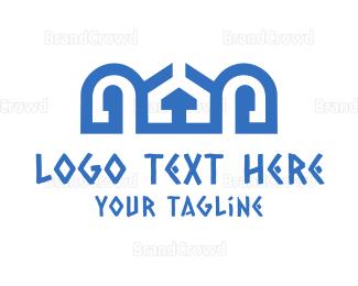 Mykonos - Blue Palace logo design