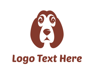 White And Brown - Brown Puppy logo design