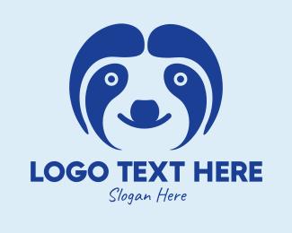 Rainforest - Cute Sloth Face  logo design