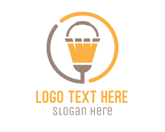Bucket - Bucket & Broom Circle logo design