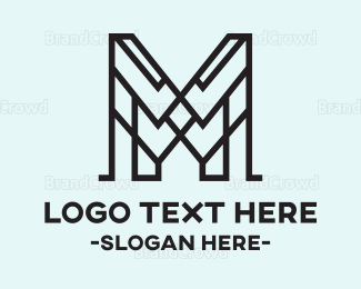 Outlines - Abstract M logo design