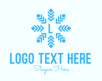 Snow - Diamond Snowflake Lettermark  logo design