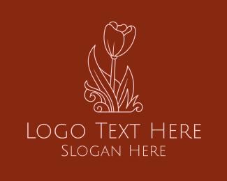 Centerpiece - Minimalist Rosebud  logo design