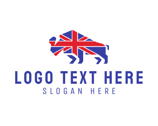 Bison - British Bison logo design