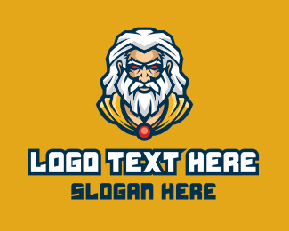 Video Game - Esports Gaming Wizard logo design