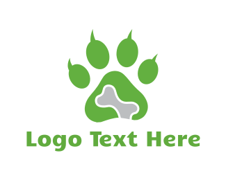 Bone - Pet Paw logo design