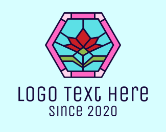Flower Field - Stained Glass Flower logo design
