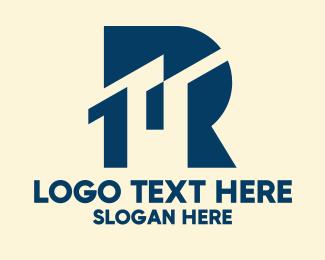 Metropolis - Blue City Letter R  logo design