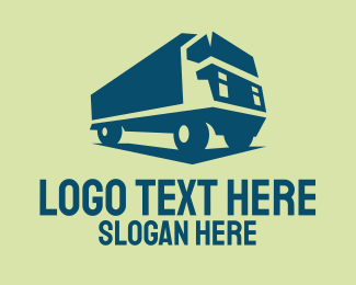 Transport - Freight Truck Transport logo design
