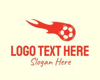 Football - Flaming Soccer Football logo design