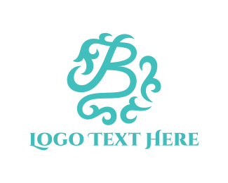 Interior Decoration - Ornate Letter B logo design