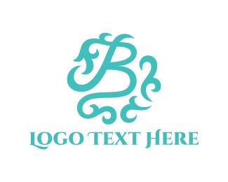 Branch - Mint Letter B logo design