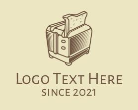 Restaurant - Retro Bread Toaster logo design