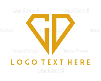 Cd - Diamond C & D logo design