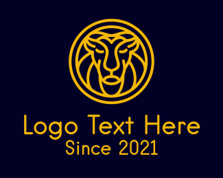 Finance - Yellow Lion Head logo design