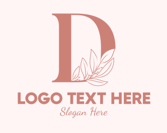 Aesthetics - Elegant Leaves Letter D logo design