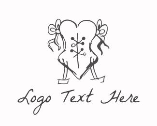Erotic - Love Corset logo design