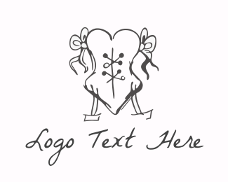 French - Love Corset logo design