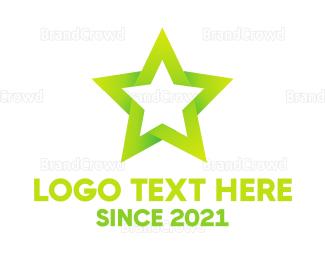 Actor - Green Star logo design