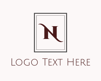 Elegant N Monogram Logo