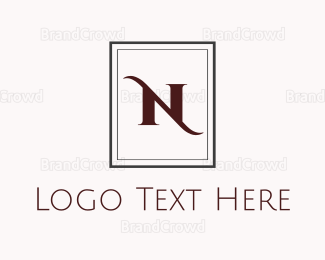 Dinnerware - Elegant N Monogram logo design