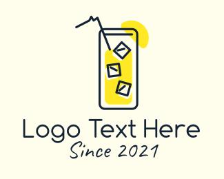 Ice - Iced Lemonade Cooler logo design