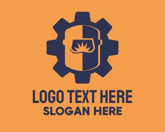 Machine - Machine Welder Mask logo design