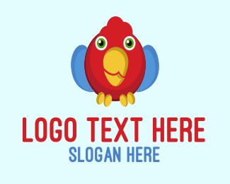 Parrot - Cute Parrot logo design