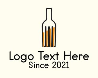 Night Club - Food Fork Drink Bottle logo design