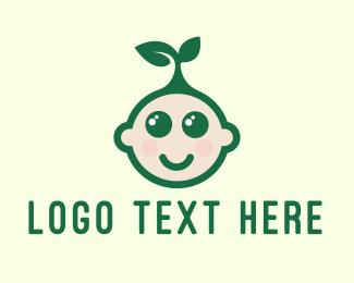 Kids - Eco-Friendly Kid logo design