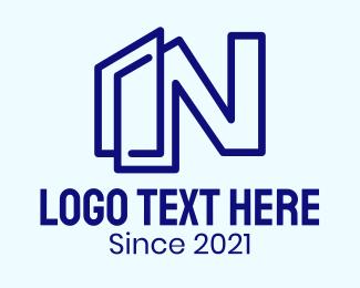 Letter N - Letter N Building logo design