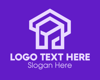 Real Estate - Purple Real Estate logo design