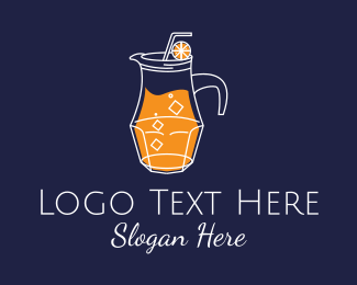 Healthy Drink - Orange Juice Pitcher logo design