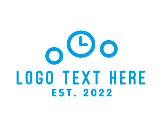 Timer - Bubble Clock logo design