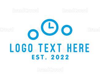 Second - Bubble Clock logo design