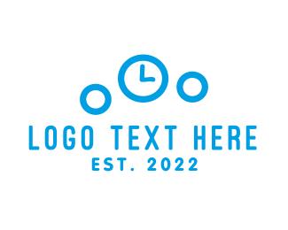Clock - Bubble Clock logo design