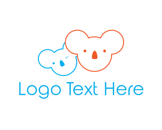 Wink - Koala Bear logo design
