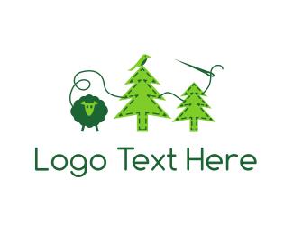 Seamstress - Felt Forest logo design
