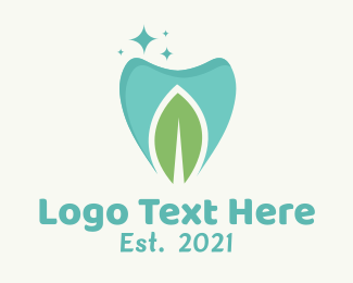 Green Tooth - Mint Dental Tooth logo design