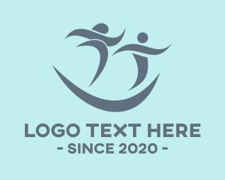 Run - Happy Marathon logo design