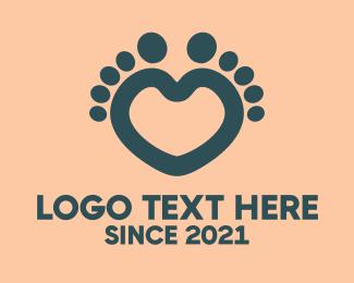 Podiatry - Feet Heart logo design