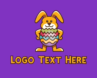 """Easter Egg Rabbit Mascot"" by town"