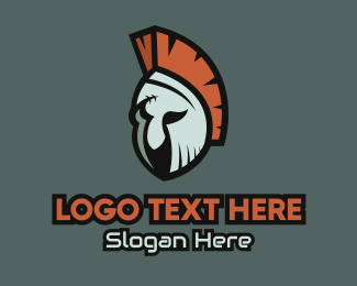 Adventure Game - Spartan Helmet Mascot logo design