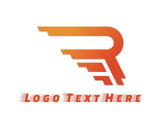 F1 - Rushing Orange R logo design