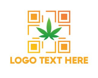 Weed - Drug Code logo design