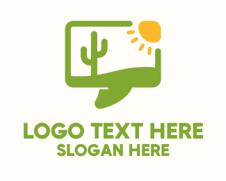Speech Bubble - Desert Message Bubble logo design