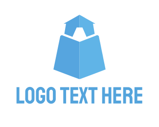 Fortress - Light Blue Tower logo design