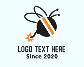 Guard - Bee Explosive Bomb logo design