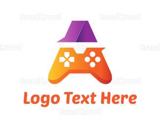 Remote - Orange Game Controller A logo design