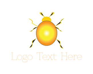 Pest - Yellow Beetle logo design